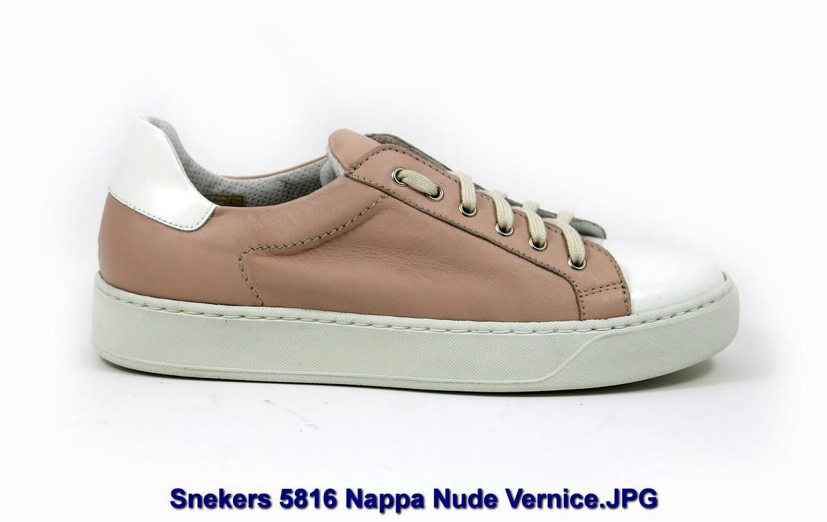 Snekers 5816 Nappa Nude Vernice