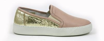 Sneakers 5815 Nappa Giraffa Nude Gold