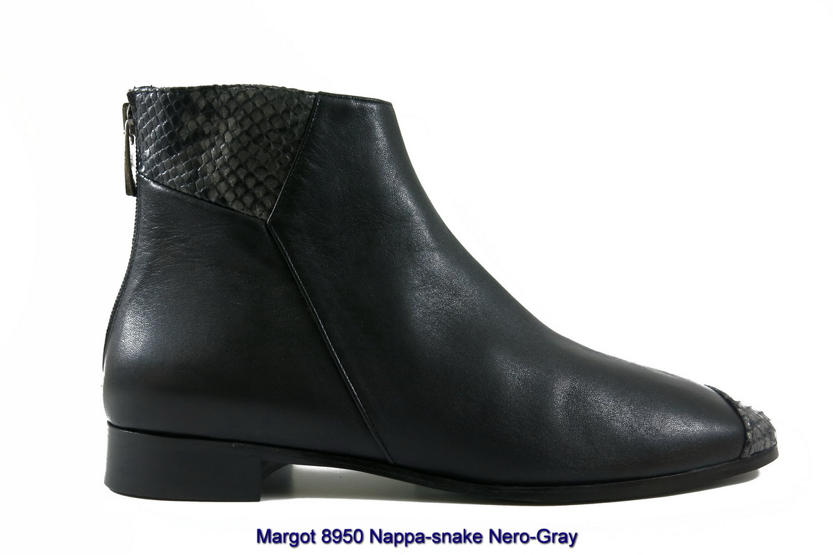 Margot 8950 Nappa-snake Nero-Gray