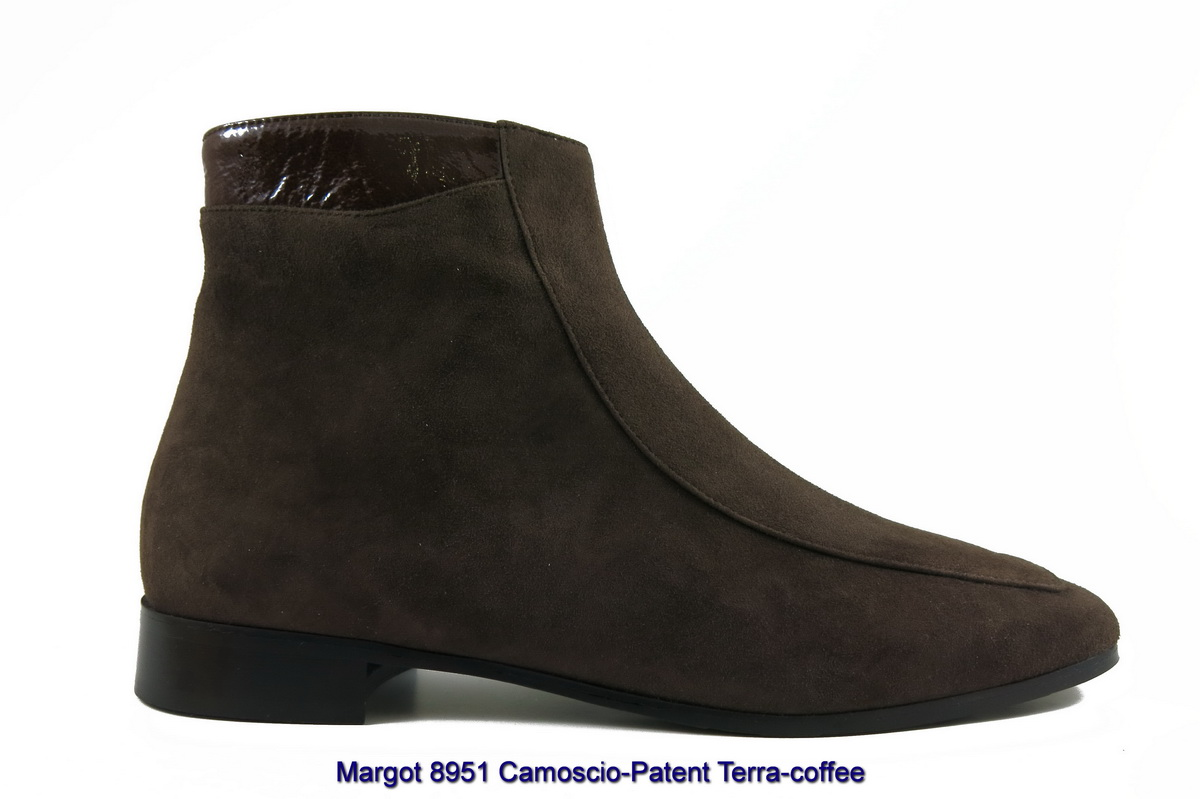 Margot 8951 Camoscio-Patent Terra-coffee