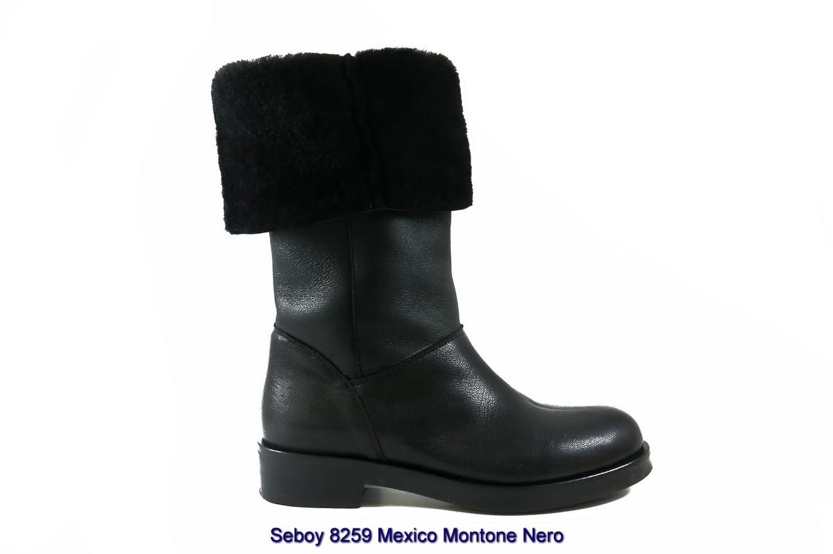 Seboy 8259 Mexico Montone Nero