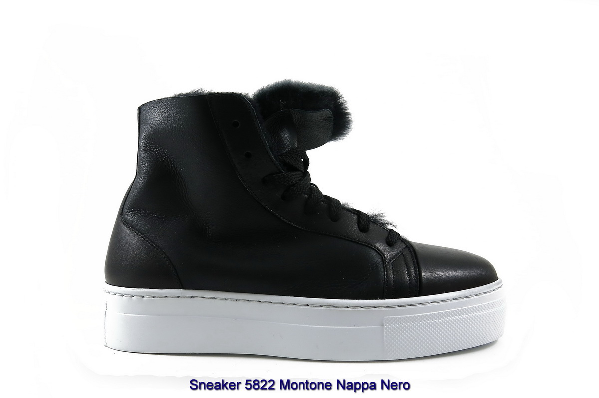 Sneaker 5822 Montone Nappa Nero