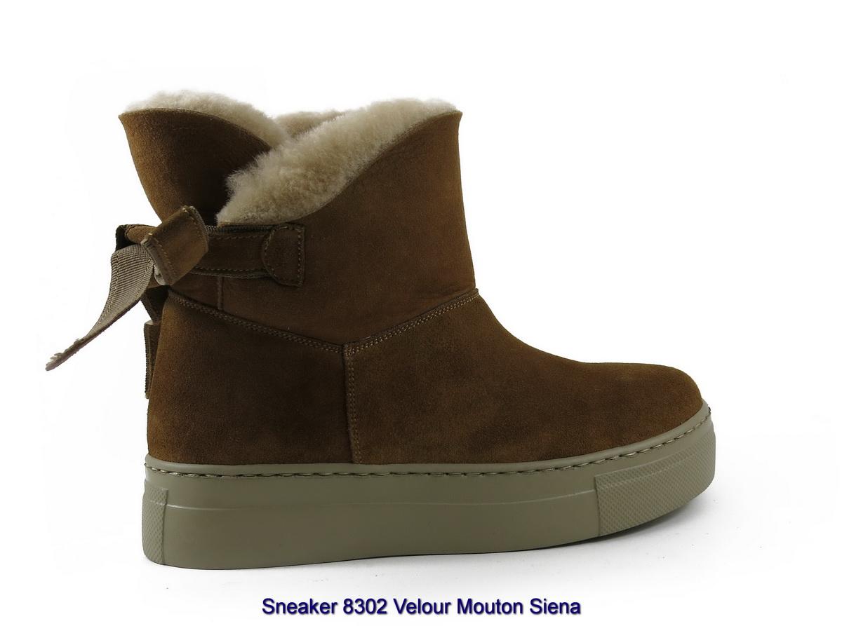Sneaker 8302 Velour Mouton Siena