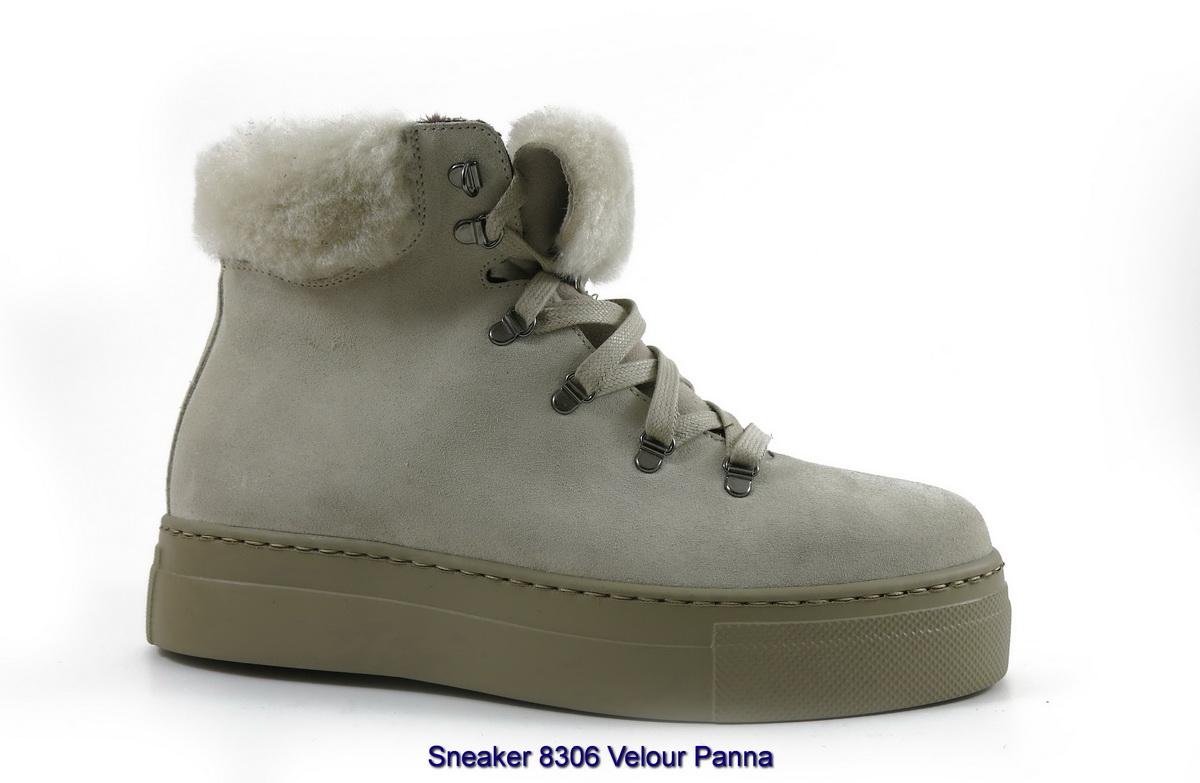 Sneaker 8306 Velour Panna